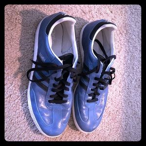 Adidas Samba (blue leather, size 12)